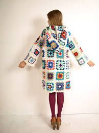 Bilderesultat for granny square coat pattern