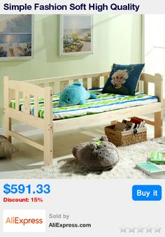 Simple Fashion Soft High Quality Children Bed Solid Wood Lengthen Widen Baby Crib Modern Baby Single Bed Combine Big Bed Crib * Pub Date: 01:45 Jan 20 2018