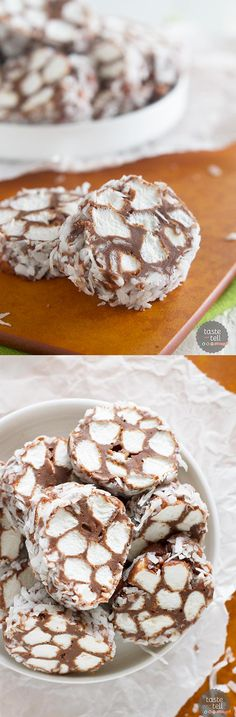 Candy Roll With Chocolate, Chopped Marshmallows, and Coconut! NO BAKE!55