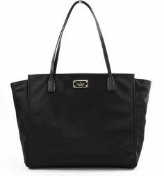 Kate Spade Taden Blake Avenue Tote Shoulder Bag Black Size U Nylon Leather #katespade #TotesShoppers