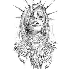 – mandala's – - Tattos İdeas Kunst Tattoos, Skull Tattoos, Body Art Tattoos, Tattoo Sketches, Drawing Sketches, Tattoo Drawings, Sketch Art, Dark Art Drawings, Cool Drawings