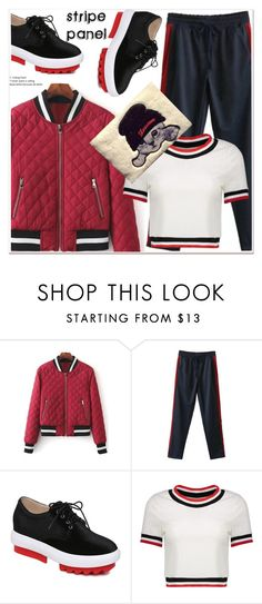 """""""stripe panel"""" by paculi ❤ liked on Polyvore"""