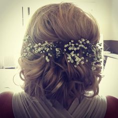 "Victoria Farr on Instagram: ""Yesterdays hair prettiness! Boho up do to compliment the gypsophelia #boho #bohochic #bohostyle #bohowedding #weddinghair #flowersinherhair #hairbyvictoriafarr #bridesmaidhair #victoriafarr"""