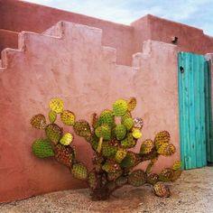 Turquoise door in the Desert.
