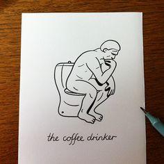 the coffee drinker HuskMitNavn