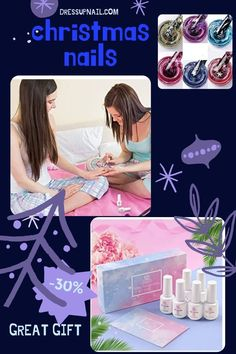 Many colors in one set, help you create an incredible design. It is also a great gift for a friend, sister or daughter. You can completely cover the nail or make an element of the picture #nail #nailart #dressupnail