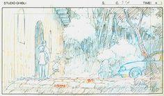 Film: Spirited Away (千と千尋の神隠し) ===== Layout Design - Scene: I'm Not Going! ===== Hayao Miyazaki
