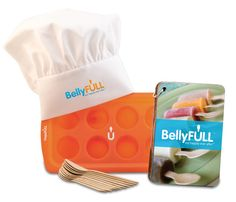 BellyFULL Kit  BellyFULL is a product of the HopeFULL company which was started by two sisters after a friend was diagnosed with cancer and eating became unenjoyable and not very tasty. They came up with the idea to create frozen meal pops that were full of good nutrients and also easy to eat. They included messages of hope with each of the frozen meals and the HopeFULL company was born.