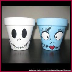 Dollar Store Crafter: Turn Dollar Store Terracotta Pots Into Jack Skelli...