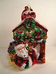 christopher radko 2007 le santa fireplace mantle ornament 14501500 hang tag