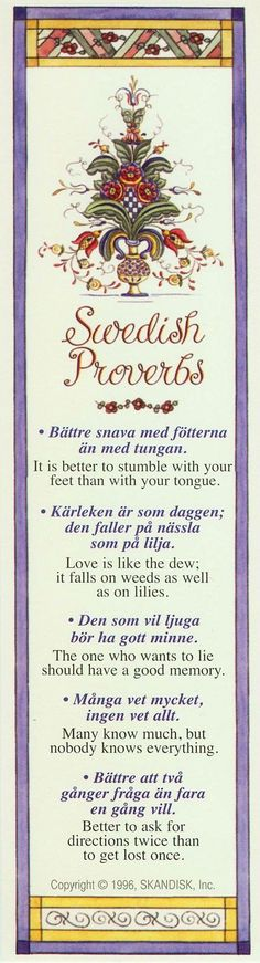 Swedish Proverbs - Words of wisdom in Swedish with English translations Swedish Christmas, Scandinavian Christmas, Stockholm, Learn Swedish, Swedish Traditions, Swedish Language, About Sweden, The Swede, Scandinavian Folk Art