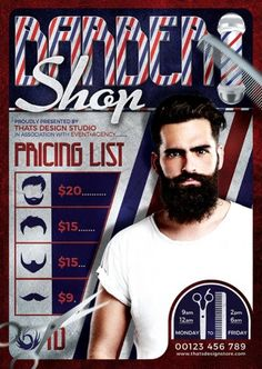 """DOWNLOAD: - https://thatsdesignstore.com/product/barber-shop-flyer-template/  Get unlimited access and unlock All """"Thats Design Studio's"""" Portfolio! - https://thatsdesignstore.com/membership/"""