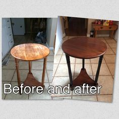 Look what chalky and company products did for this sad old table!