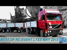 BEST OF RC TRUCKS MEGA EVENT,  LYSS, MAY 2015 IN SWITZERLAND, EXCAVATOR, WHEEL LOADER, TRACTOR - YouTube
