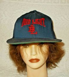 b6e813c86f4 Details about Vintage Bud Light Beer Embroidered Snapback Cap Hat Made In  The USA