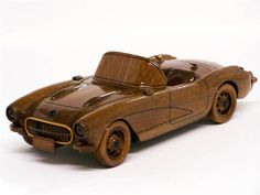 1957 Corvette Convertible - Quilling Deco Home Trends Wooden Toy Cars, Wood Toys, Wooden Words, Wooden Art, Wood Car, Wood Craft Patterns, Corvette Convertible, Woodworking Toys, Wooden Gifts