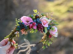 Flower head wreath Queen of the ball floral by MagaelaAccessories