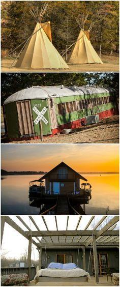 There are plenty of interesting and totally one-of-a-kind places to stay across Oklahoma including bed and breakfasts with porch beds, a train car that has been converted into a suite and even teepees.
