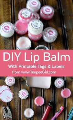 Homemade lip gloss is so easy & fun to make! Come & grab the recipe, along with free labels and printable tags. www.TeepeeGirl.com