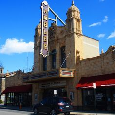 Dominating the town's skyline is a Spanish Colonial beauty, the Ambler Theater. Originally built in 1928 by Warner Brothers, the recently restored and renovated theater is a non-profit, community owned treasure that shows independent, art and limited-distribution films. (Photo by C. Bonfig for Visit Philadelphia)