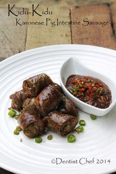 Resep Kidu-Kidu Sosis Batak Karo Saus Gota (Grilled Pig Intestine Casing Sausage…