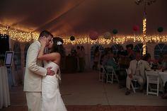 Dayna and Brandon First Dance at Northern Michigan's Premiere Destination Venue-Crystal Lake Weddings.