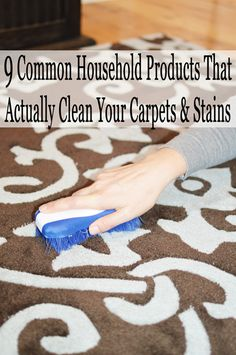 1. Ammonia. Lift out stains from carpeting and upholstery by sponging them with 1 cup of clear ammonia in 1/2 gallon (2 liters) warm water. Let it dry thoroughly, then repeat if needed. 2. Baby Wipes. Use a baby wipe to blot up coffee spills from your rug or carpet. They absorb …
