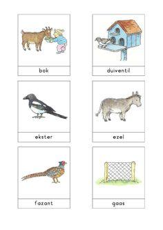Woordkaarten Bas 'De kinderboerderij' 1