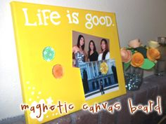 Magnetic canvas board