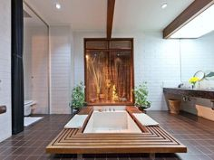 mid century modern bathroom. I just died! This is amazing! All this mid-century pinning makes me want to go visit my abandoned dream house tomorrow.