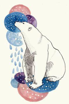 Contemplative Bear by Carmen Lynch