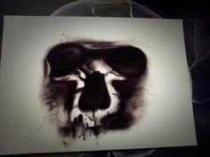 Skull 💀  Format: A4 pastels