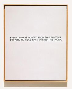 John Baldessari, Everything is purged