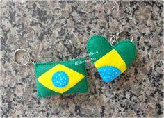 Giselle Barbosa Artesanatos: Chaveiros Brasil