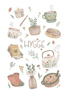 A collection of things that gives hygge.