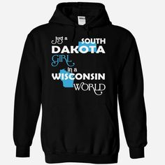 (SDXanh001) Just A #South Dakota Girl In A Wisconsin World, Order HERE ==> https://www.sunfrog.com/Valentines/-28SDXanh001-29-Just-A-South-Dakota-Girl-In-A-Wisconsin-World-Black-Hoodie.html?6789, Please tag & share with your friends who would love it , #christmasgifts #renegadelife #jeepsafari  #south dakota badlands, deadwood south dakota, south dakota photography  #posters #kids #parenting #men #outdoors #photography #products #quotes