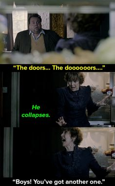 """When a random person collapsed on her floor. 