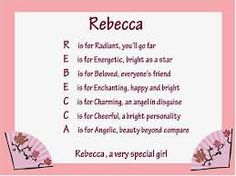 your name rebecca what does your name mean true words