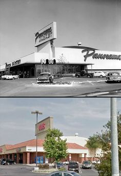Then and Now: 10321 Sepulveda Boulevard at Devonshire Street in Mission Hills. In 1957, it was the Panorama Market. Today, it is a Vons.
