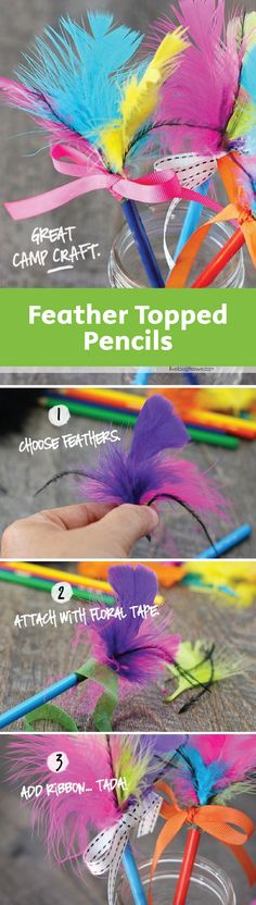 If your kids go crazy for fun back-to-school supplies then these Feather Topped Pencils are sure to put a smile on their faces. Plus, they'll love getting creative with color combinations!