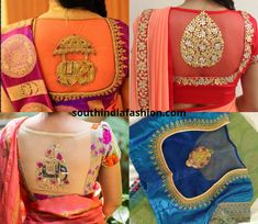 Sheer back blouses are truly exotic. They look equally interesting with your elegant pattu sarees as with your fancy designer sarees Blouse Designs High Neck, Cutwork Blouse Designs, Netted Blouse Designs, Hand Work Blouse Design, Stylish Blouse Design, Fancy Blouse Designs, Bridal Blouse Designs, Peacock Embroidery Designs, Embroidery Patterns