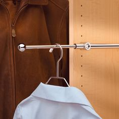 "Rev-A-Shelf Designer Series 12"" Valet Rod Chrome CVR-12-CR    34% OFF Order Today! Shop and Save @ CabinetParts.com"
