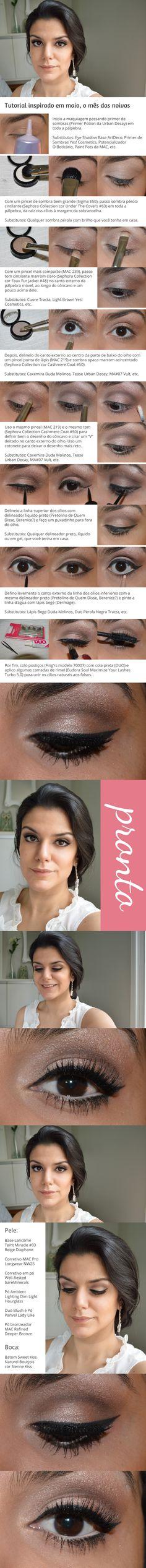 Vai casar de dia? O tutorial dessa semana é uma opção de maquiagem fofa para a festa http://www.2beauty.com.br/blog/2014/05/16/tutorial-noivinha/ #noiva #tutorial