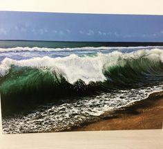 Wave Oil Painting Painting Studio, Airbrush Art, Custom Paint, Art School, Waves, Oil, Gallery, Artwork, Outdoor