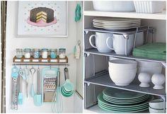 Veja dicas de como organizar armários de cozinha com ganchos, aramados e até mesmo itens de escritório e banheiro! As ideias são práticas e baratas