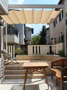 パーゴラ テラス屋根 タカショー フレームポーチ Garden Sun Shade, Sunroom, Tiny House, Outdoor Living, Pergola, Deck, Shades, Exterior, Outdoor Structures
