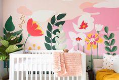 diy cuarto Nursery Makeover Before amp; Nursery Room, Kids Bedroom, Nursery Decor, Room Decor, Baby Room Paintings, Room Wall Painting, Murals For Kids, Cheap Wall Decor, Baby Room Design