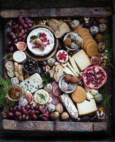 Getting our party platters ready . Photo by Sue Beane Cheese Platter Board, Charcuterie And Cheese Board, Tapas, Party Platters, Christmas Sweets, International Recipes, Queso, A Table, Sushi