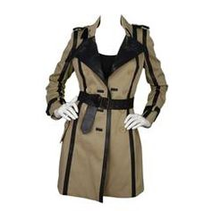 Burberry Prorsom Tan Belted Trench Coat sz 38