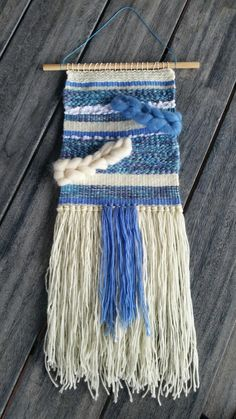 Hand woven wall hanging by CutchysCraftCorner on Etsy Weaving Textiles, Wall Decor, Wall Art, Woven Wall Hanging, Woven Rug, Spinning, Loom, Crochet Top, Hand Weaving